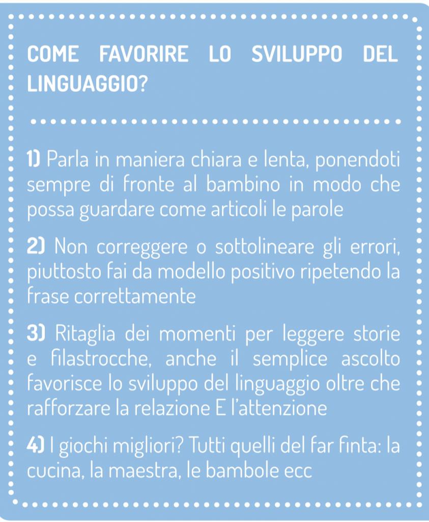 Difficoltà - Ritardo del linguaggio