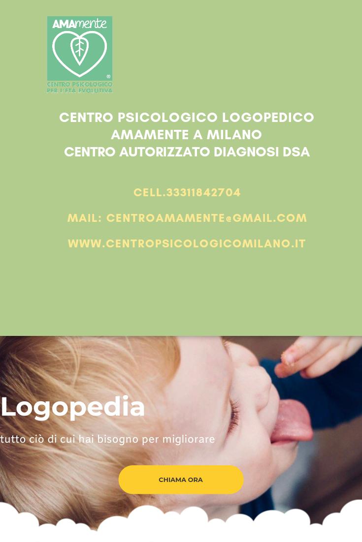 Logopedia infanzia Milano